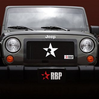 RBP® - 1-Pc RL Series Black Mesh Grille with Plain Frame