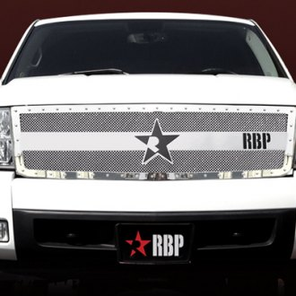 RBP® - 1-Pc RX-3 Series Chrome Double Woven Mesh Main Grille with Studded Frame