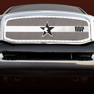 RBP® - 1-Pc RX-3 Series Chrome Mesh Main Grille with Studded Frame