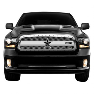 RBP® - 1-Pc RX-3 Series Chrome Mesh Grille with Studded Frame
