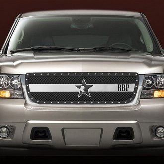 RBP® - 1-Pc RX-3 Series Black and Chrome Mesh Grille