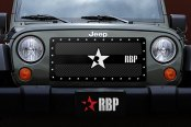 RBP® - 1-Pc RX-3 Series Black and Chrome Mesh Main Grille