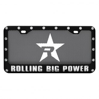 RBP® - License Frame and Plate Combo with Mesh and Star Logo