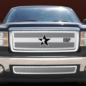 RBP® - 1-Pc RX-3 Series Chrome Studded Dual Weave Mesh Main Grille