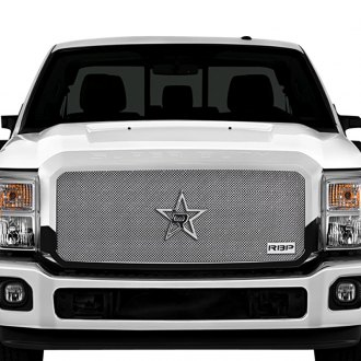 RBP® - 1-Pc RX-1 Series Chrome Dual Weave Mesh Grille