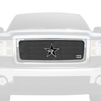 "RBP® - 1-Pc RX-5 ""HALO"" Series Chrome Studded Dual Weave Mesh Grille"