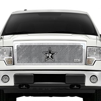 "RBP® - 1-Pc RX-5 ""HALO"" Series Chrome Dual Weave Mesh Grille"