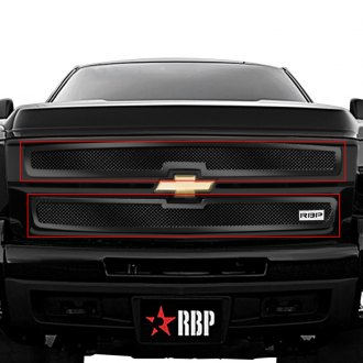 RBP® - 2-Pc RX-1 Series Gloss Black Dual Weave Mesh Main Grille