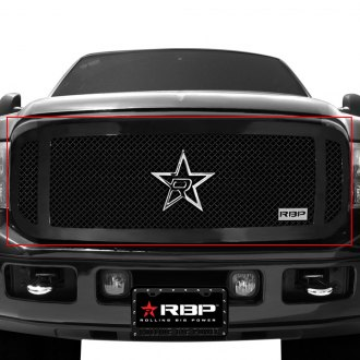 RBP® - 1-Pc RX-1 Series Gloss Black Dual Weave Mesh Grille