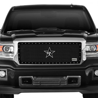 "RBP® - 1-Pc RX-5 ""HALO"" Series Black Studded Dual Weave Mesh Grille"