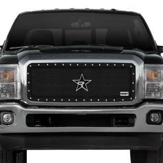 "RBP® - 1-Pc RX-5 ""HALO"" Series Black Dual Weave Mesh Grille"