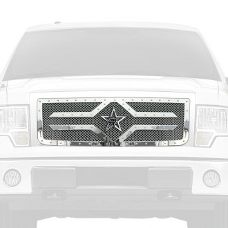 RBP® - 1-Pc RX-2 Series Chrome Studded Dual Weave Mesh Main Grille