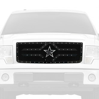 RBP® - 1-Pc RX-2 Series Black Studded Dual Weave Mesh Main Grille
