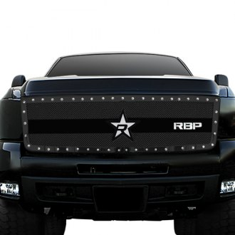 RBP® - 1-Pc RX-3 Series Black Studded Dual Weave Mesh Grille