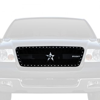 RBP® - 1-Pc RX-3 Series Black Studded Dual Weave Mesh Main Grille