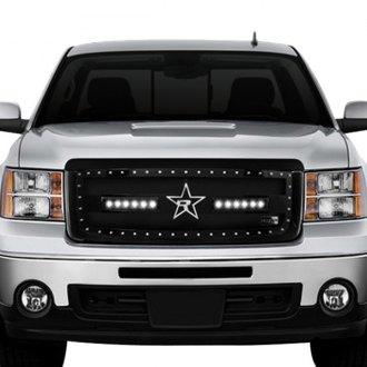 "RBP® - RX-3 LED Series Midnight Edition Black Dual Weave Mesh Grille with 2 x 11.5"" Single Row LED Light Bars"