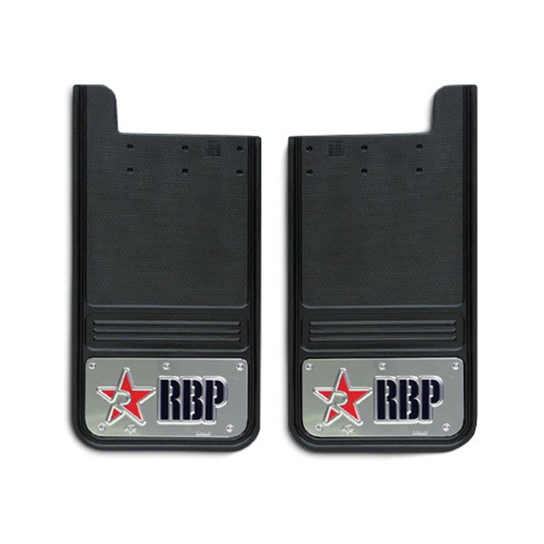 RBP® - Universal Square Mud Flap with Logo on SS Background