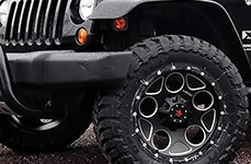 RBP® - 85R VOLTAGE Satin Black with Machined Accents on Jeep Wrangler
