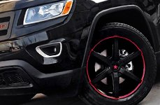 RBP® - Street Series ANTIDOTE Gloss Black with Red Groove on Jeep Grand Cherokee