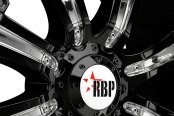 RBP® - 94R Black with Chrome Inserts Close-Up
