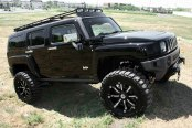 RBP® - 94R Black with Chrome Inserts on Hummer H3