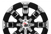 RBP® - 95R Black with Machined Face and Lip - Front View
