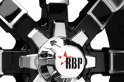 RBP® - 95R Black with Machined Face and Lip Close-Up