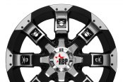 RBP® - 95R Black with Machined Face, Lip and Skull Inserts - Front View