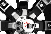 RBP® - 95R Black with Machined Face, Lip and Skull Inserts Close-Up