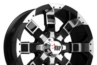 "RBP® - 95R Black with Machined Face and Lip (20"" x 10"", +10 Offset, 5x127 Bolt Pattern, 78mm Hub)"