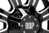 RBP® - 99R FURY Gloss Black with Machined Accents Close-Up
