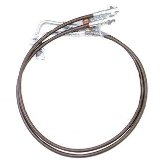 White Hose /& Stainless Gold Banjos Pro Braking PBR2725-WHT-GOL Rear Braided Brake Line