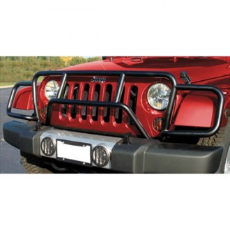 RealWheels® - Enforcer Black Grille Guard with Light Mounts