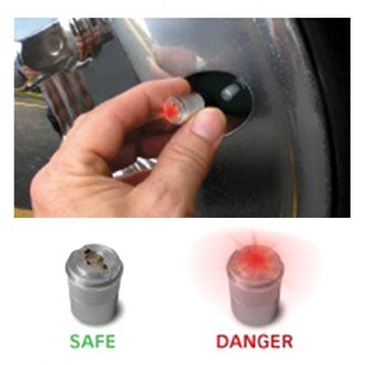 Real Wheels® - LED AirGuard Set and Go Tire Pressure Monitoring Valve Caps