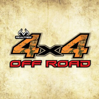 "Realtree® - 4X4 Off Road 6"" x 13.25"" Contour-Cut Decal"