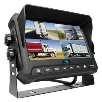 "Rear View Safety® - Rear View System with 7"" Quad Screen Monitor with Built-in DVR"