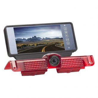 "Rear View Safety® - Rear View Mirror with Built-in 7"" Monitor and 3rd Brake Light Mount Camera"