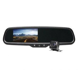 "Rear View Safety® - G-Series Rear View Mirror with Built-in 4.3"" Monitor and Camera"
