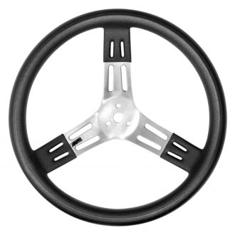 "Rebco® - 15"" Black Bumps Grip Aluminum Steering Wheel"