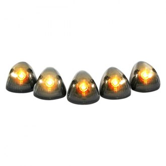 Recon® - Smoke Cab Roof Lenses with Amber 194 Bulbs