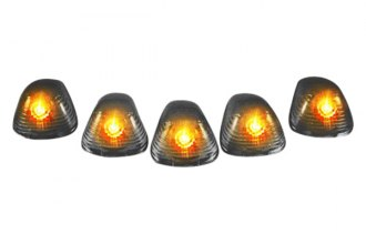 Recon® 264142BK - Smoke Cab Roof Lenses with Amber Xenon Bulbs