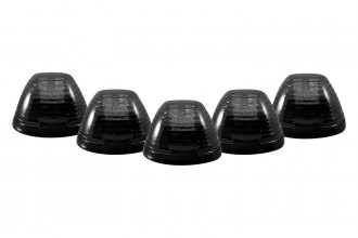 Recon® 264143BK - Smoke Cab Roof Lenses with Amber LED's