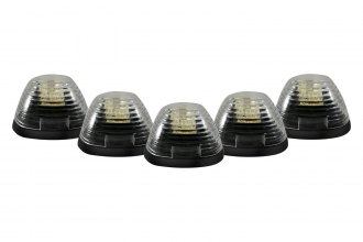 Recon® - Clear Cab Roof Lenses with Amber LED's