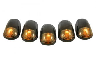 Recon® 264146BK - Smoke Cab Roof Lenses with Amber LED's