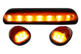 Recon® 264155AM - Amber Cab Roof Lenses with Amber LED's