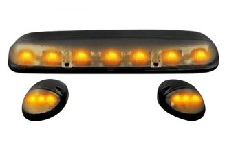 Recon® 264155BK - Smoke Cab Roof Lenses with Amber LED's