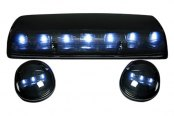 Recon® - Smoke Cab Roof Lenses with White LED's