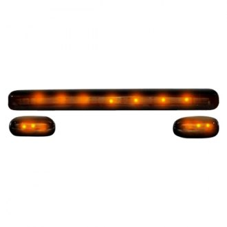 Recon® - Smoke Cab Roof Lenses with Amber LED's
