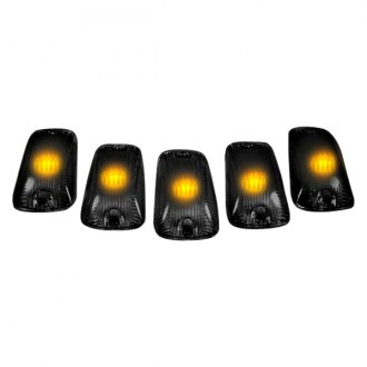 Recon® - Smoke Cab Roof Lenses with Amber 194 LED Bulbs