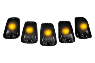 Recon® 264159BK - Smoke Cab Roof Lenses with Amber 194 LED Bulbs